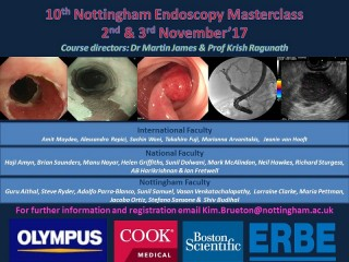 The 10th Nottingham Endoscopy Masterclass 2017