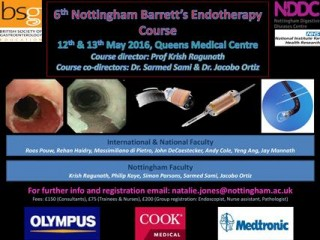 The 6th Nottingham Barrett's Endotherapy Course