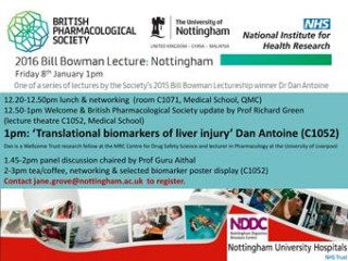 2016 Bill Bowman Lecture: 'Translational Biomarkers of Liver Injury'