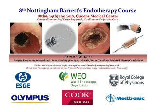 The 8th Nottingham Barrett's Endotherapy Course